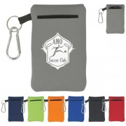 Neoprene Electronics Cases with Carabiner Clips